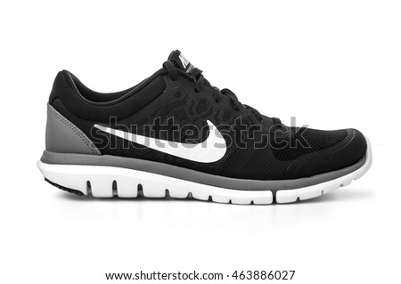 Chisinau, Moldova- May 23, 2016 : New style nike shoes. Taken at studio and isolated over white background