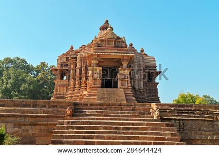 Chitragupta temple. Western temples of Khajuraho. Madhya Pradesh. India. Built around 1023