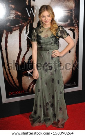 "Chloe Grace Moretz at the world premiere of her movie ""Carrie"" at the Arclight Theatre, Hollywood. October 7, 2013  Los Angeles, CA"