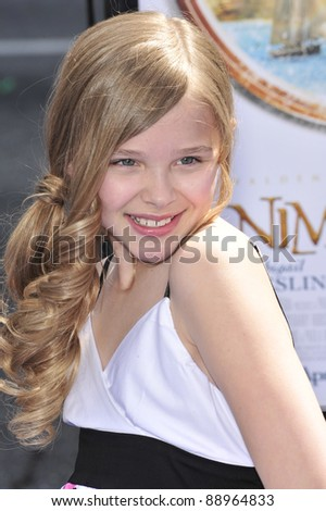 "Chloe Moretz at the world premiere of ""Nim's Island"" at Grauman's Chinese Theatre, Hollywood. March 30, 2008  Los Angeles, CA Picture: Paul Smith / Featureflash"