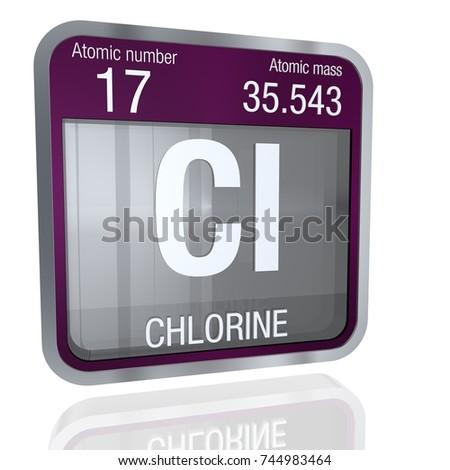 Chlorine symbol square shape metallic border stock illustration chlorine symbol in square shape with metallic border and transparent background with reflection on the floor urtaz Choice Image