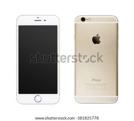 CHLUMCANY, CZECH REPUBLIC, JANUARY 10, 2016: Apple iPhone 6s isolated on white - stock photo