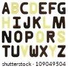 Chocolate alphabet - stock photo
