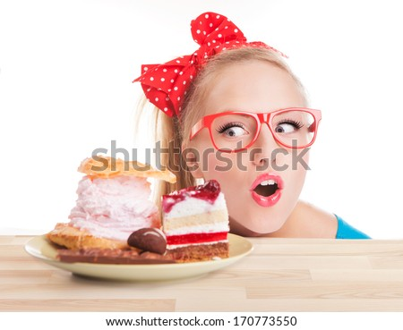 Chocolate and cake sweets temptation - stock photo
