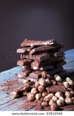 chocolate and chili - stock photo
