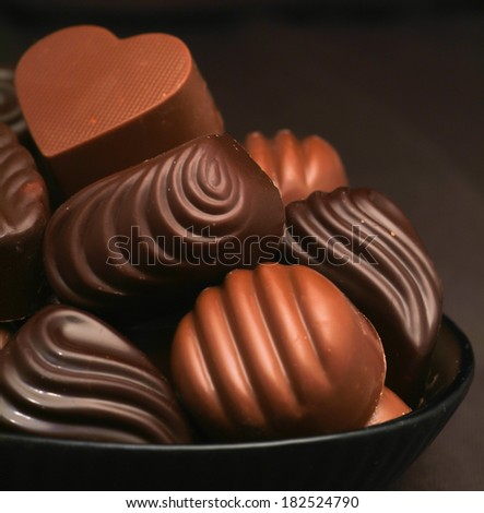 chocolate assorted with a background - stock photo