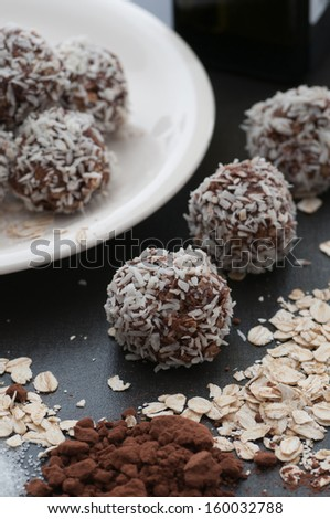 Chocolate Balls - stock photo