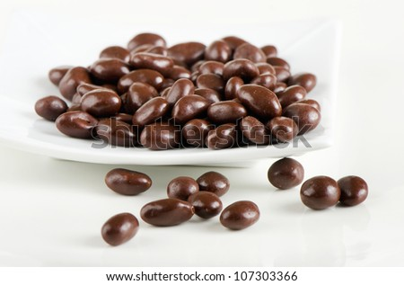 chocolate balls on a white plate