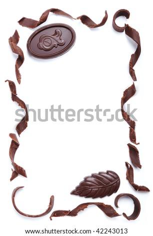 Chocolate banner - stock photo