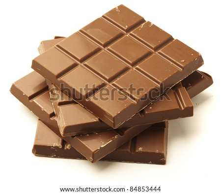 chocolate bar isolated on a white background