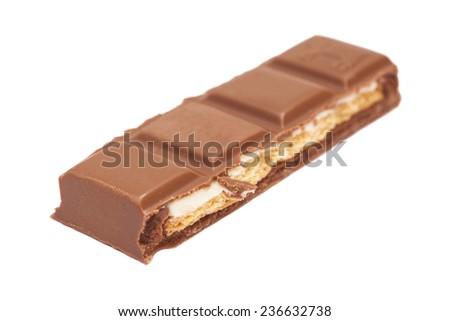 Chocolate bar isolated on the white background  - stock photo