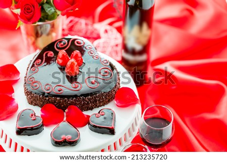 Chocolate beer and wine pairings. Flourless Cake with Zinfandel wine for Valentines day.