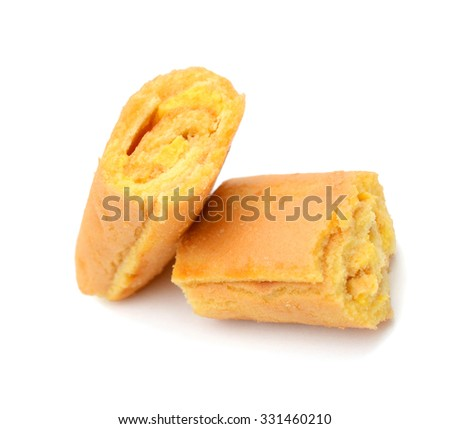 chocolate bread isolated on a white background
