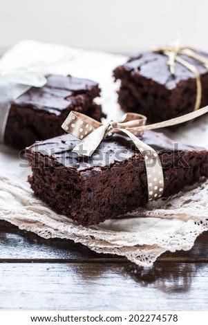 Chocolate Brownies - stock photo