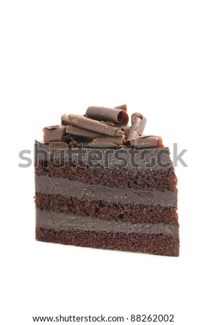 Chocolate Cake isolated in white background - stock photo