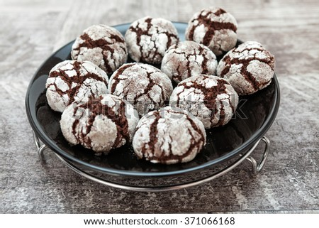 Chocolate Cake Pops - stock photo