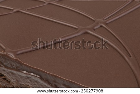 Chocolate Cake Topping Background Close Up - stock photo