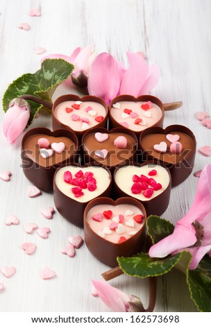 chocolate candies for Valentine's day