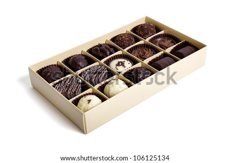 Chocolate Candy in the box - stock photo