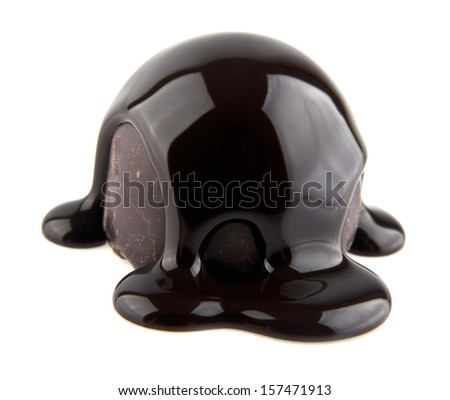 chocolate candy is isolated on a white background. picture from