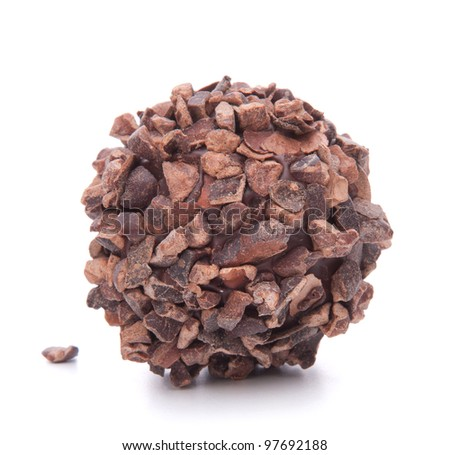 Chocolate candy isolated on white background cutout - stock photo