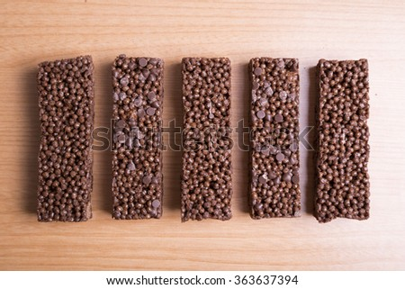 Chocolate cereal bars  - stock photo