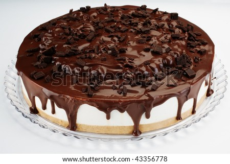 chocolate cheese cake - stock photo