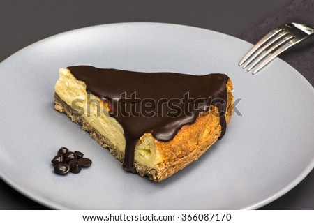 chocolate cheesecake/chocolate cheesecake - stock photo