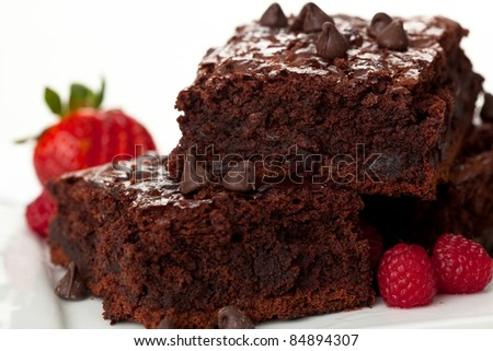 Chocolate Chip Brownies 7 - stock photo
