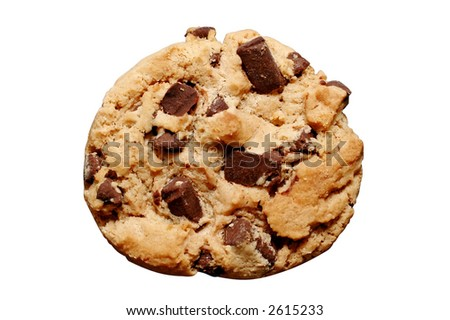 Chocolate Chip Cookie - Isolated
