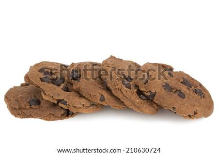 chocolate chip cookies - stock photo