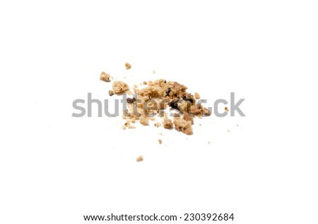 chocolate chip cookies on a white background - stock photo