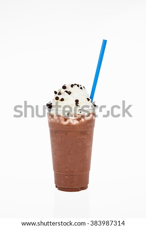 chocolate chip frappe - stock photo