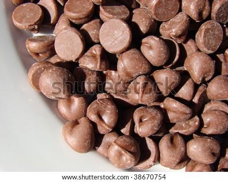 Chocolate Chips - stock photo
