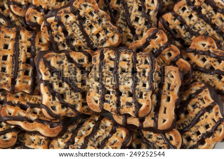 Chocolate chips cookies - stock photo