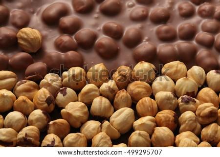 Chocolate / chocolate bar / nut chocolate / hazelnut chocolate