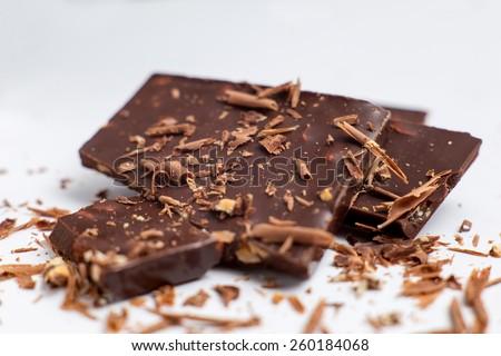 Chocolate chopped - stock photo