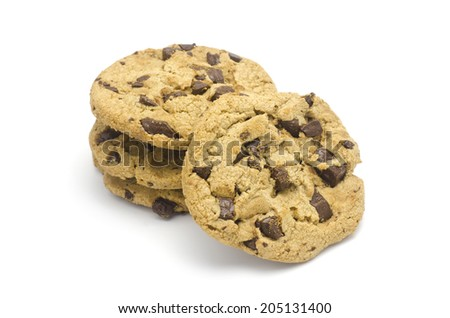 chocolate chunk crispy cookies - stock photo