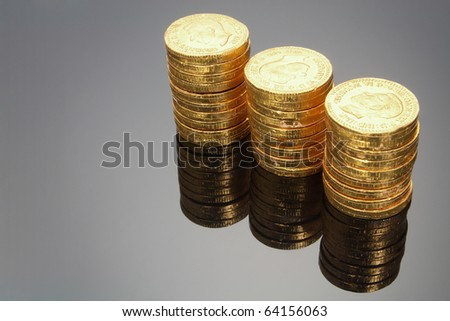 Chocolate Coins with Reflection