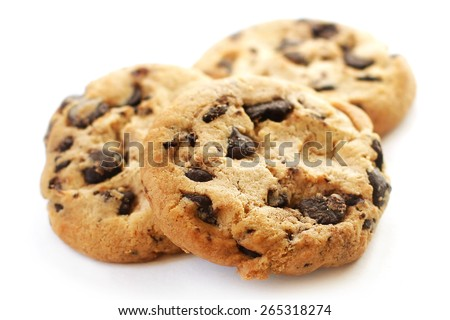 Chocolate cookies closeup  - stock photo