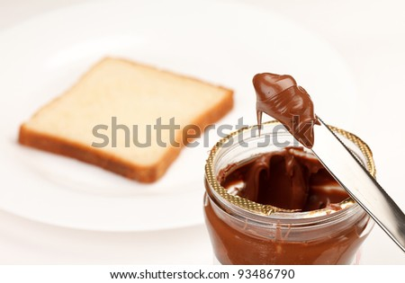 chocolate cream - stock photo