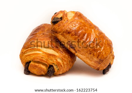 Chocolate croissant - stock photo