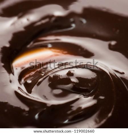 Chocolate dessert isolated on white. - stock photo
