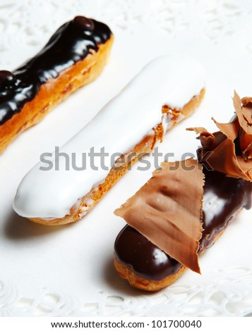 Chocolate Dessert with Ice Cream - stock photo