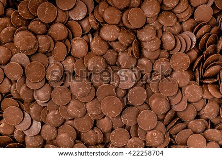 chocolate drops - stock photo