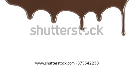 chocolate falling from above - stock photo