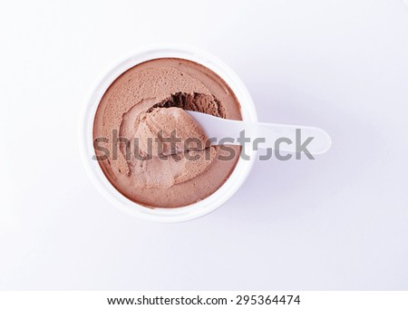Chocolate flavor ice cream to eat for foods background - stock photo