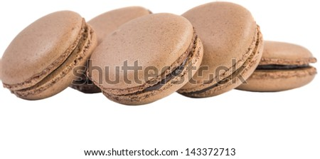 Chocolate flavored French macarons