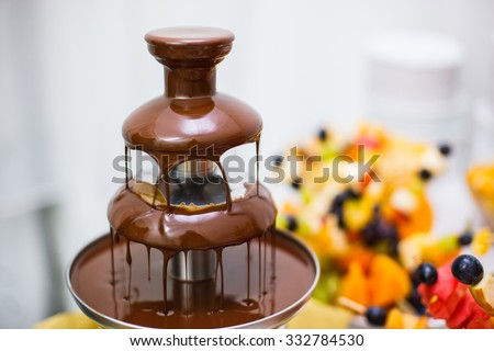 Chocolate fountain - stock photo