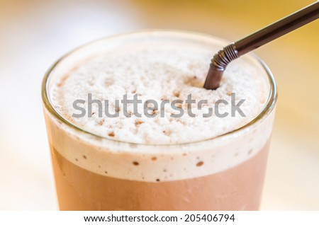 Chocolate frappe - stock photo